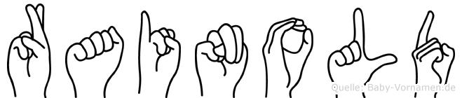 Rainold in Fingersprache für Gehörlose