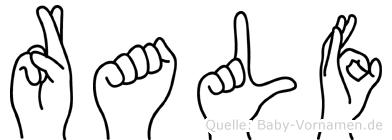 Ralf im Fingeralphabet der Deutschen Gebärdensprache