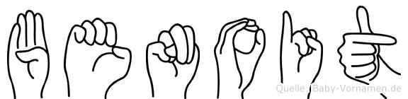 Benoit im Fingeralphabet der Deutschen Gebärdensprache