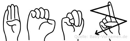 Benz im Fingeralphabet der Deutschen Gebärdensprache