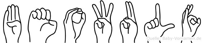 Beowulf in Fingersprache für Gehörlose