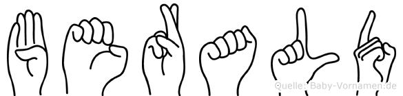 Berald in Fingersprache für Gehörlose