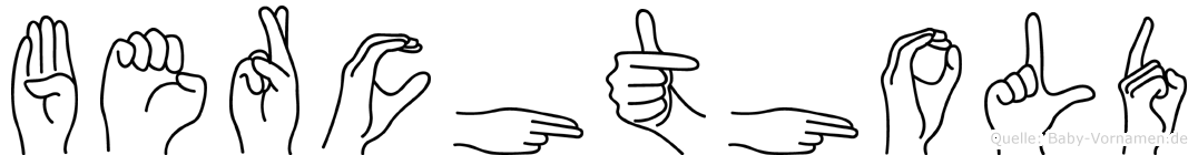 Berchthold in Fingersprache für Gehörlose