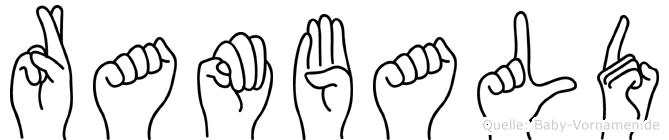 Rambald in Fingersprache für Gehörlose