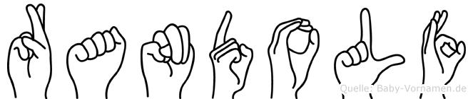 Randolf in Fingersprache für Gehörlose