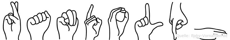 Randolph in Fingersprache für Gehörlose