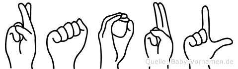 Raoul im Fingeralphabet der Deutschen Gebärdensprache