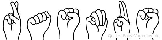 Rasmus im Fingeralphabet der Deutschen Gebärdensprache