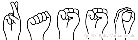 Rasso in Fingersprache für Gehörlose