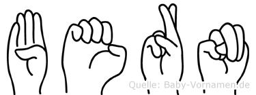 Bern in Fingersprache für Gehörlose