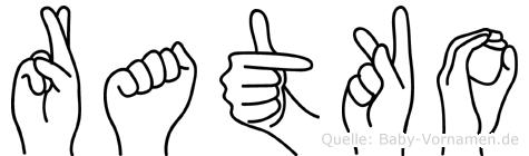 Ratko in Fingersprache für Gehörlose
