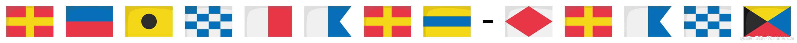 Reinhard-Franz im Flaggenalphabet
