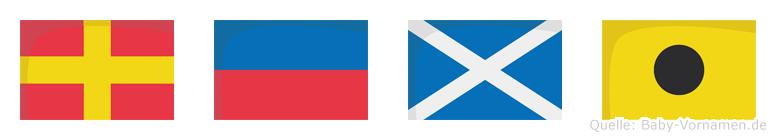 Remi im Flaggenalphabet