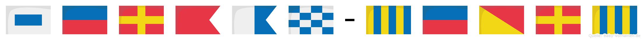 Serban-Georg im Flaggenalphabet
