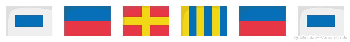 Serges im Flaggenalphabet