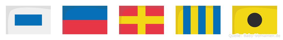 Sergi im Flaggenalphabet