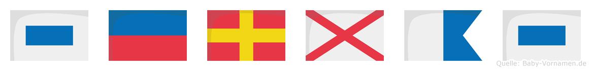 Servas im Flaggenalphabet
