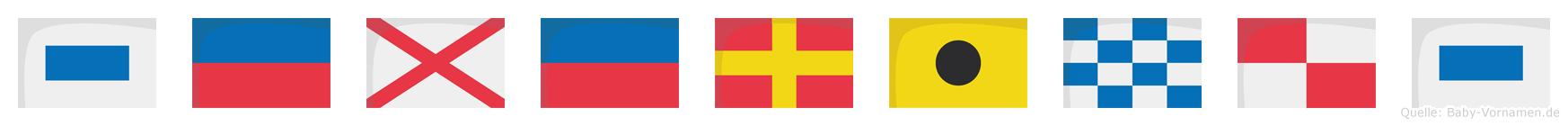 Severinus im Flaggenalphabet