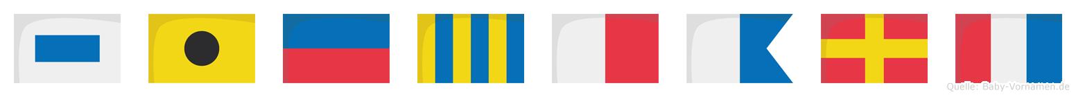 Sieghart im Flaggenalphabet