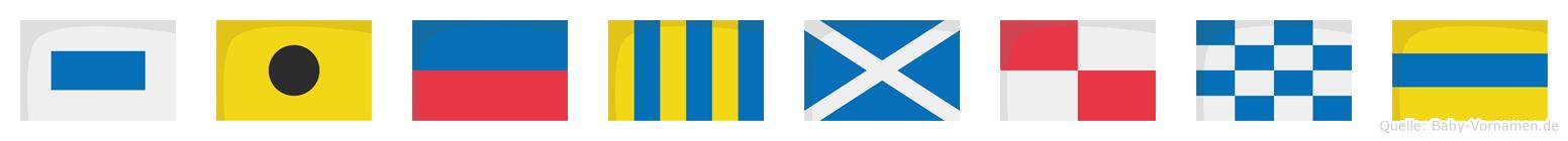 Siegmund im Flaggenalphabet