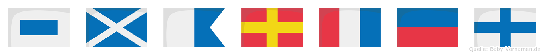 Smartex im Flaggenalphabet