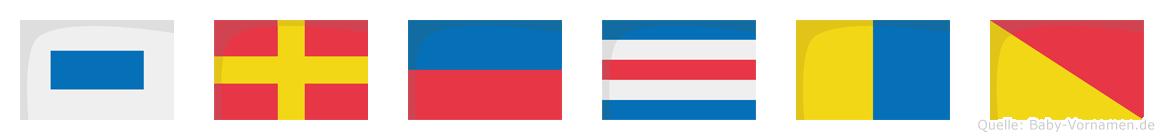 Srecko im Flaggenalphabet