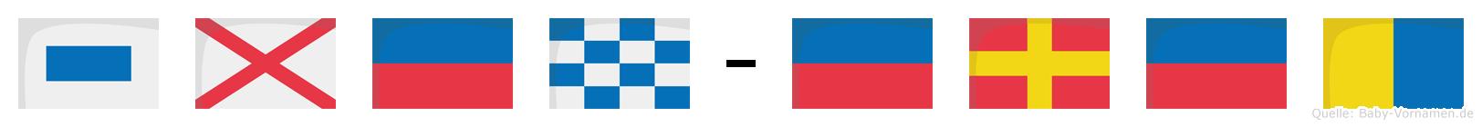 Sven-Erek im Flaggenalphabet