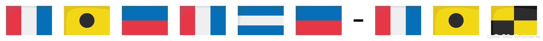 Tietje-Til im Flaggenalphabet