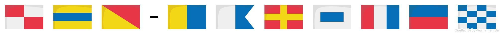 Udo-Karsten im Flaggenalphabet