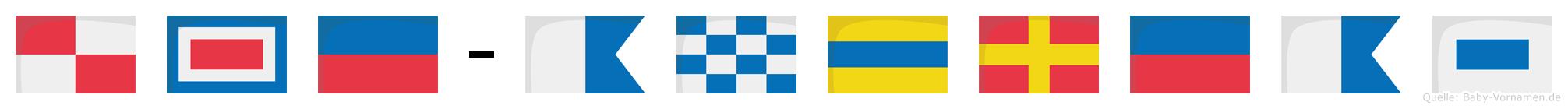 Uwe-Andreas im Flaggenalphabet