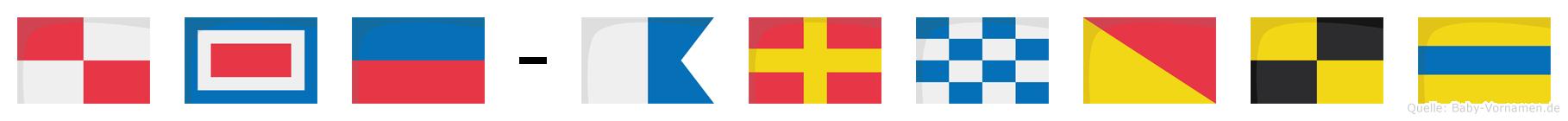 Uwe-Arnold im Flaggenalphabet