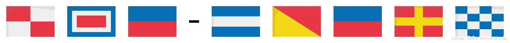 Uwe-Jörn im Flaggenalphabet