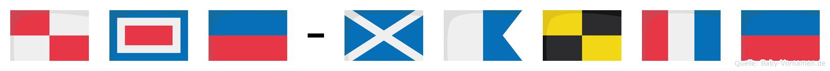 Uwe-Malte im Flaggenalphabet