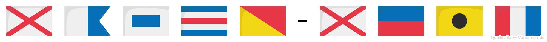 Vasco-Veit im Flaggenalphabet
