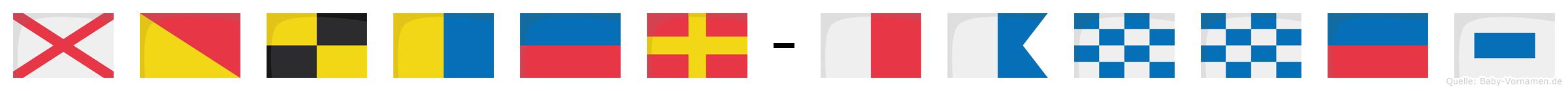 Volker-Hannes im Flaggenalphabet