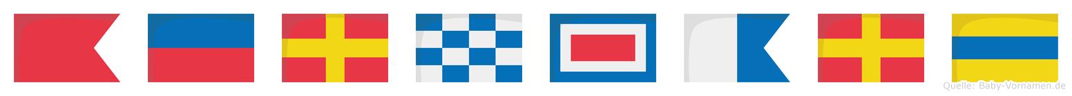 Bernward im Flaggenalphabet