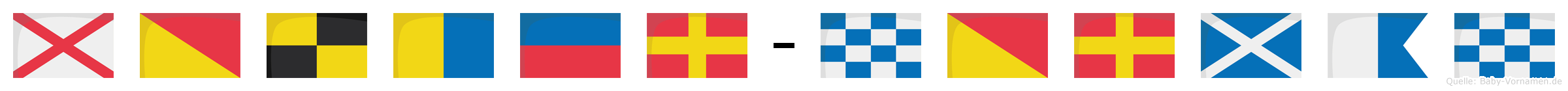 Volker-Norman im Flaggenalphabet