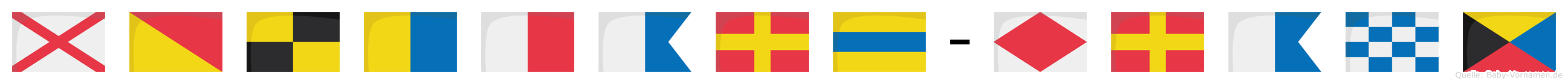 Volkhard-Franz im Flaggenalphabet