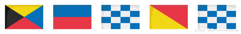 Zenon im Flaggenalphabet