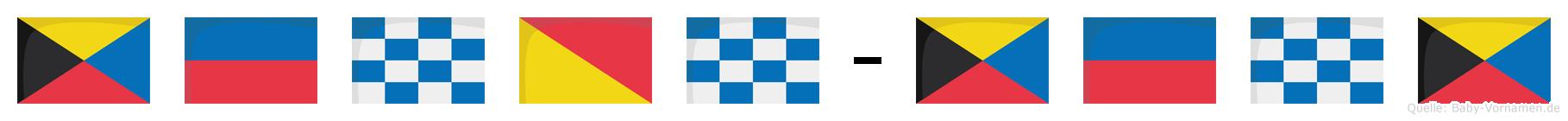 Zenon-Zenz im Flaggenalphabet