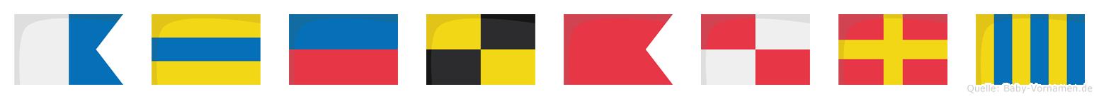 Adelburg im Flaggenalphabet