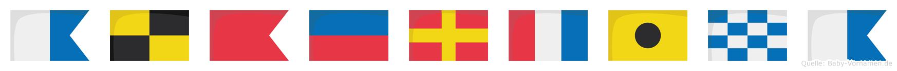 Albertina im Flaggenalphabet