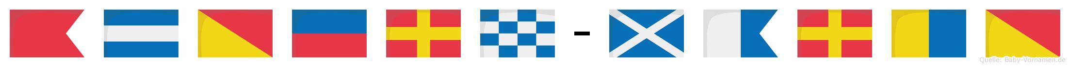 Björn-Marko im Flaggenalphabet
