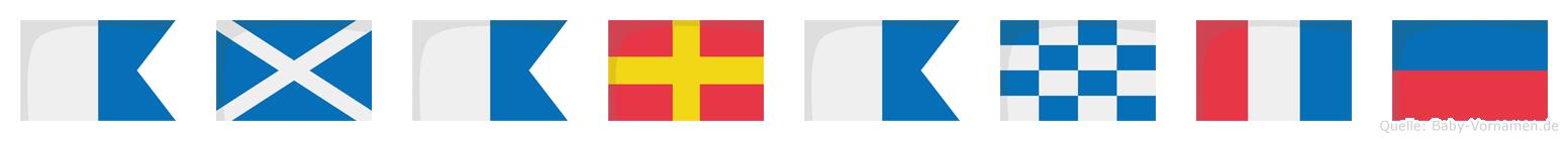 Amarante im Flaggenalphabet