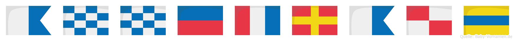 Annetraud im Flaggenalphabet