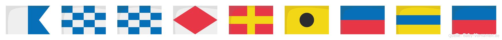 Annfriede im Flaggenalphabet