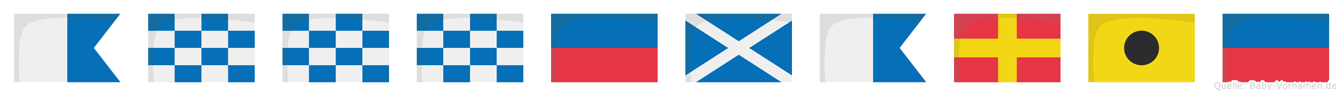 Annnemarie im Flaggenalphabet