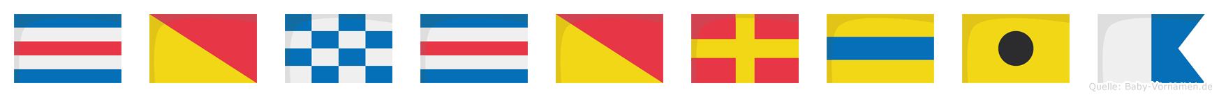 Concordia im Flaggenalphabet