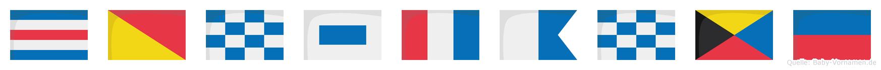Constanze im Flaggenalphabet