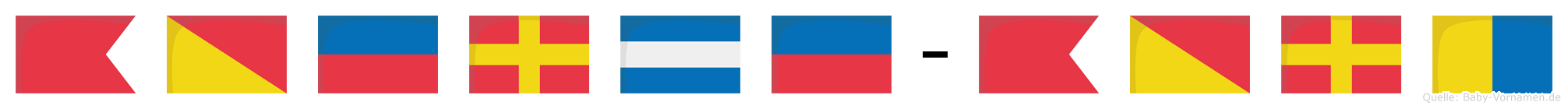 Börje-Bork im Flaggenalphabet